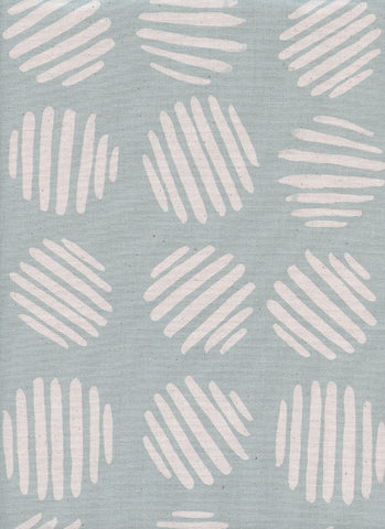 Cotton + Steel Panorama Ocean - coin dots - baby powder