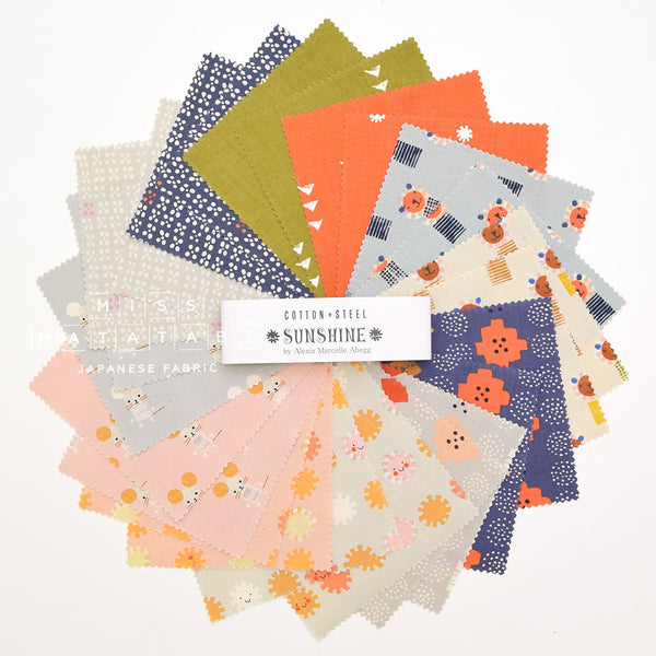 Cotton + Steel Charm Pack - Japanese Fabric - Sunshine