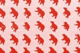 Kokka Toy Fabrics - bear - red - fat quarter
