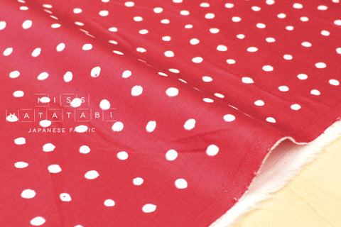 Nani Iro Kokka Japanese Fabric Pocho Petit sateen - red