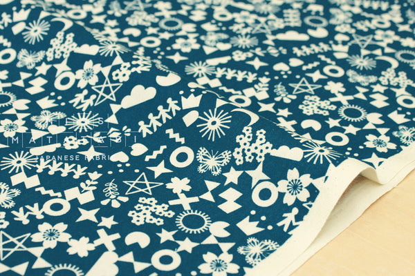 Cotton + Steel Paper Cuts - cut it out - teal
