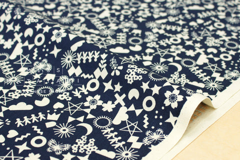 Cotton + Steel Paper Cuts - cut it out - navy