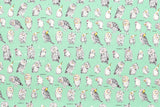 Kokka Owls - mint - fat quarter
