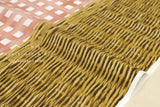 Kokka Pattern and Pattern - basket & gingham - pink, brown