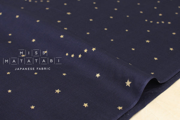 Kobayashi starry voile - navy blue, metallic gold