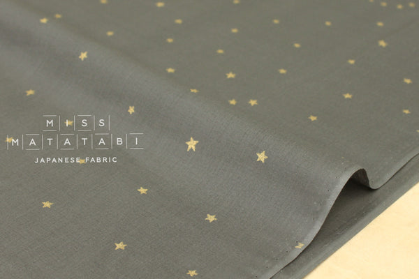 Kobayashi starry voile - grey, metallic gold