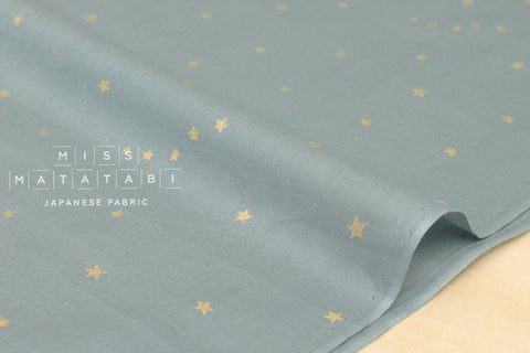 Kobayashi starry voile - grey blue, metallic gold