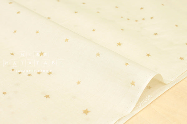 Kobayashi starry voile - cream, metallic gold
