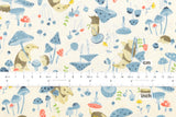 Kokka Kawaii Anteater - blue - fat quarter
