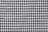 Yarn dyed double faced gingham - black