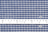 Yarn dyed double faced gingham - blue