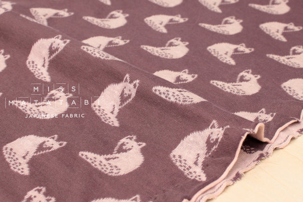 Reversible double knit - Fox - pink, mauve