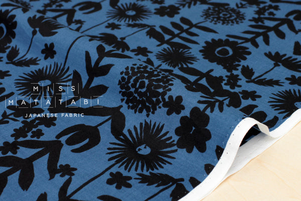 Kokka Cucito Floral lawn - blue