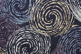 Japanese Fabric Swirls - indigo blue, purple