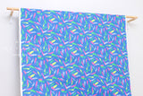 Neon Brushstrokes - blue, yellow, pink, green - fat quarter