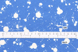Paint Splatters - blue, white - fat quarter