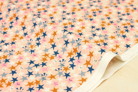 Cotton + Steel Paper Cuts - starstruck - peachy