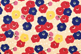 Anemone flowers - red, blue, pink, yellow