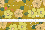 Retro flowers - chartreuse, green, peach