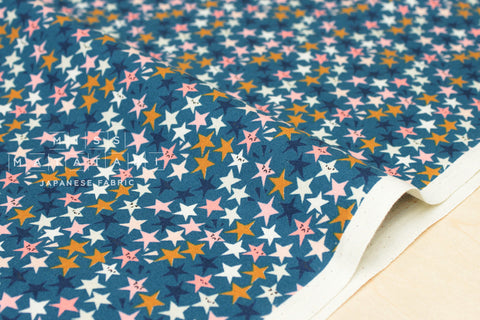 Cotton + Steel Paper Cuts - starstruck - teal