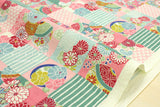 Kokka Modern Wa Patch - pink, mint