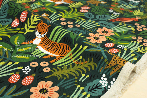 Cotton + Steel Menagerie canvas - jungle - hunter