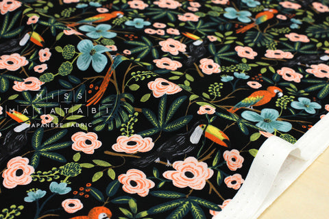Cotton + Steel Menagerie - paradise garden - midnight - fat quarter