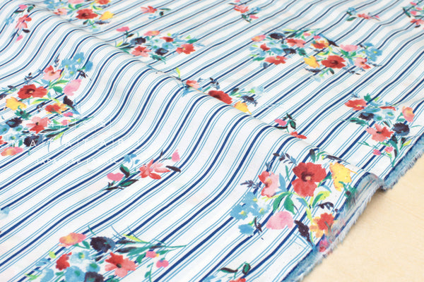 Posie Stripes - cotton lawn - C