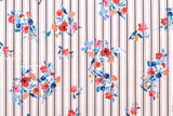 Posie Stripes - cotton lawn - A