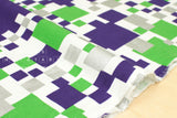 Metallic Cubes - green, purple, silver