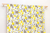 Metallic Cubes - taupe, yellow, silver