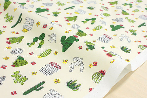 Little Cactus - cream yellow, green