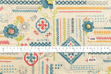 Yuwa Embroidery Sampler canvas - multi