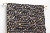 Japanese Fabric asagao metallic - black, gold