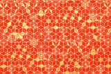 Japanese Fabric asagao metallic - orange, gold
