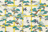 Japanese Fabric Winter in Japan - yellow