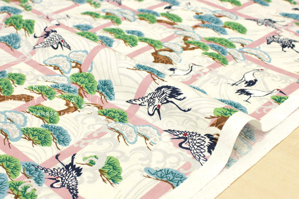 Japanese Fabric Winter in Japan - pink