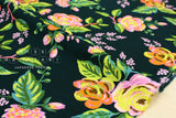 Cotton + Steel Menagerie rayon - Jardin de Paris - navy