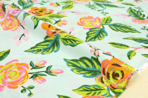 Cotton + Steel Menagerie rayon - Jardin de Paris - mint