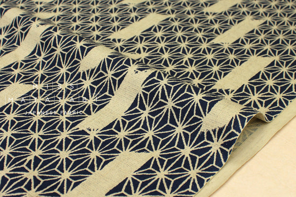 Japanese Fabric Traditional Asagao - navy