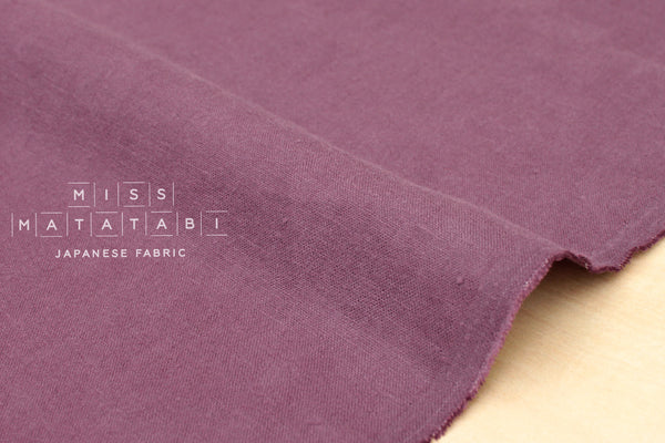 100% brushed linen - mauve