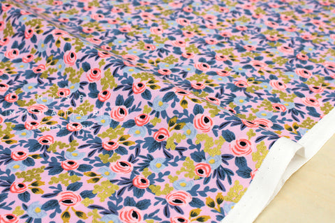 Cotton + Steel Menagerie - rosa - violet - fat quarter