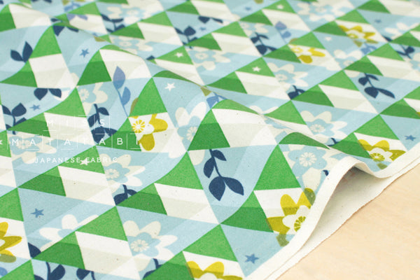 Cotton + Steel Flutter - kaleidoscope - green