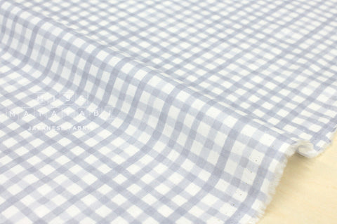 Tiny gingham lawn - light grey