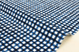 Tiny gingham lawn - indigo blue