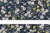 Daisy Meadow rayon lawn - blue, green