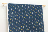 Puffin canvas - navy blue - fat quarter