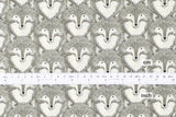 Cotton + Steel Magic Forest - foxes grey