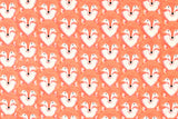Cotton + Steel Magic Forest - foxes coral