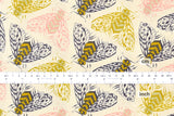 Cotton + Steel Magic Forest - bees yellow - fat quarter